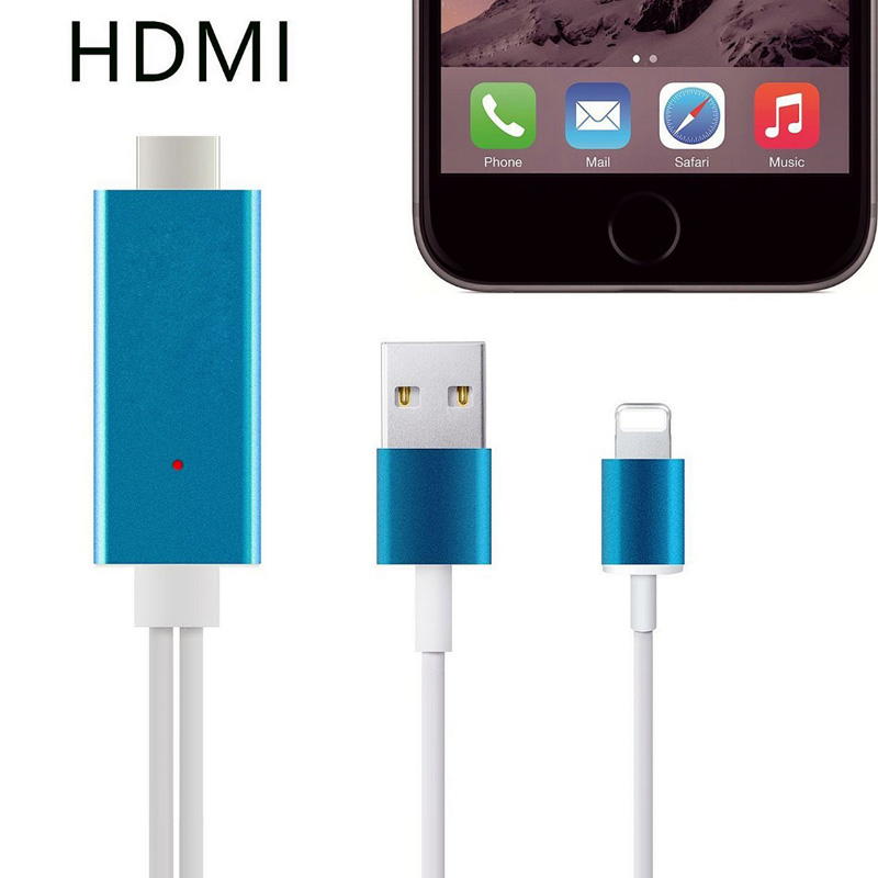 bilder für 2 Mt High Speed 8 Pin Hdmi Hdtv AV Hdmi Adapter Kabel Für iPhone 7 6 6 s Plus 5 5 s 5c SE Für iPad Mini Ipad Luft IOS 10 Plug & Play