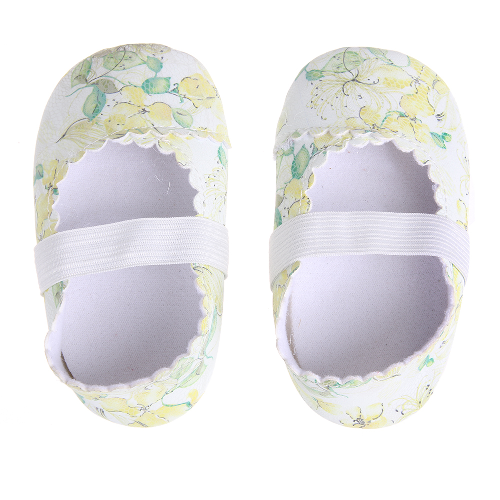 New Causal Baby Floral Dance Shoes Princess Party Dance Baby Ballet Shoes Antiskid Soft Sole Baby Moccasins Newborn Crib Girls