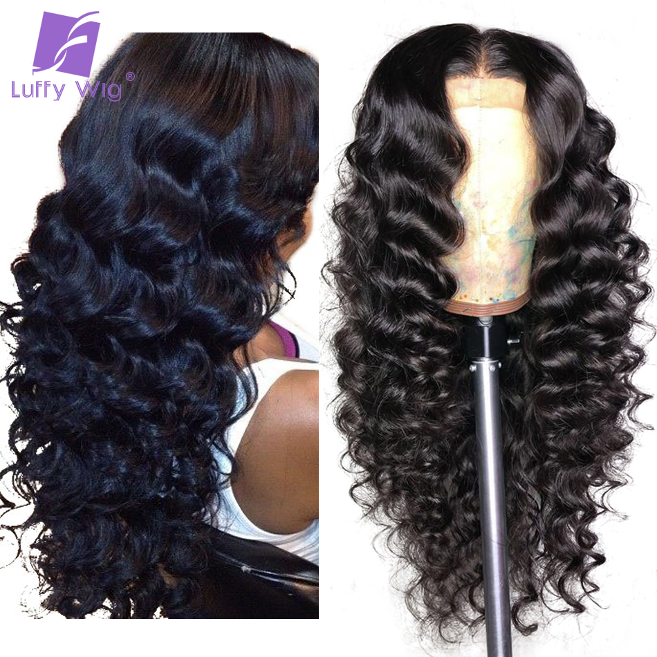 Deep Wave 13x6 Lace Front Wig Human Hair Wigs With Baby Hair Bleached Knots Brazilian Non