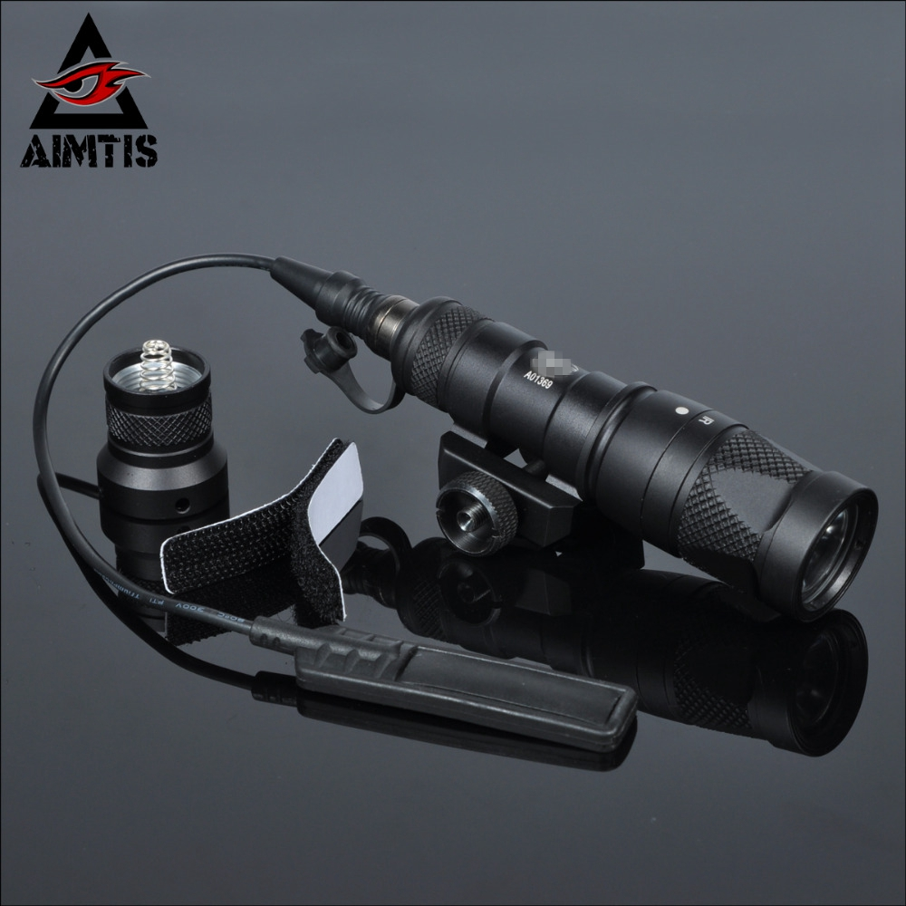 AIMTIS M300V Tactical Flashlight Gun Weapon Light With Constant Strobe momentary Output For 20mm Picatinny Rail