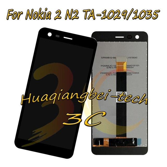 5.0 ''שחור חדש עבור Nokia 2 N2 TA-1029 TA-1035 מלא LCD תצוגה + מסך מגע digitizer עצרת עבור Nokia 2 100% נבדק