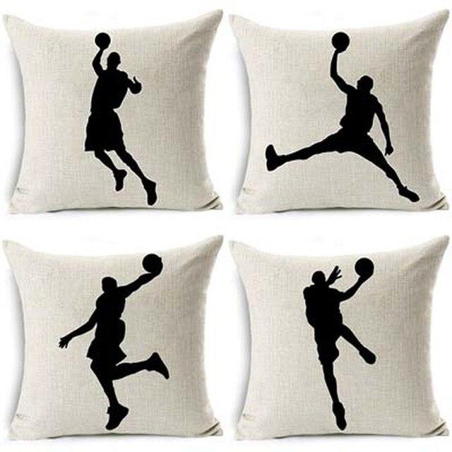 Shadow Basketball Cushion Cover