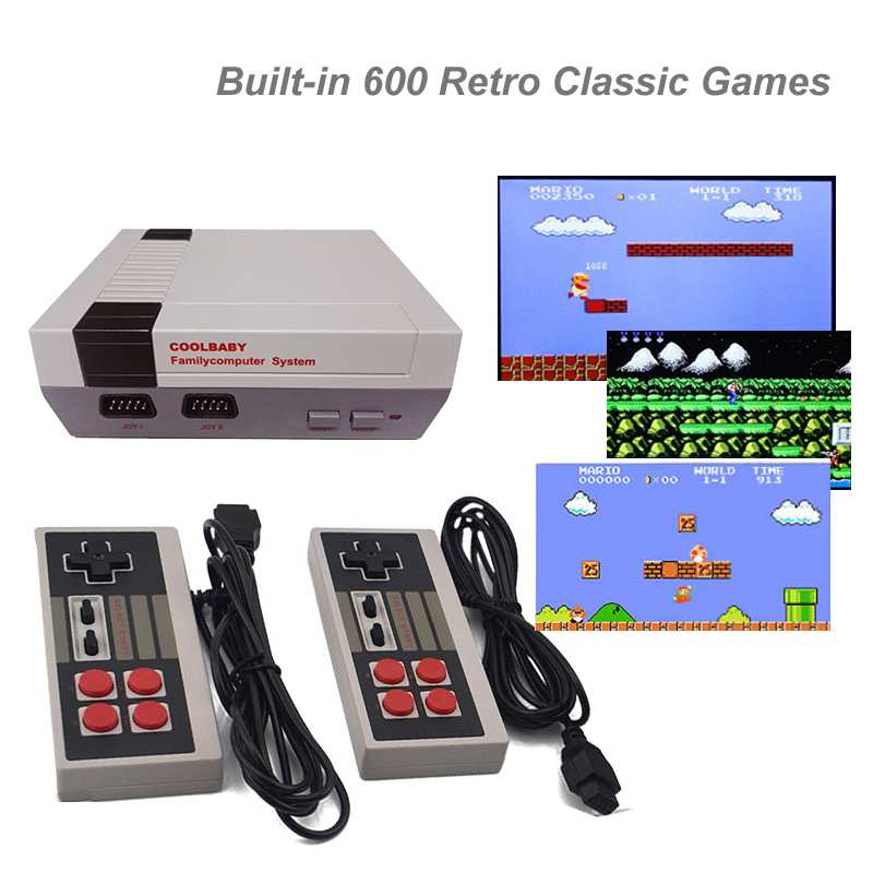 Mini HDMI AV OUT Built-in 600 Retro Classic Games Double Handle TV Game Console Family Entertainment System Series PAL & NTSC sanwa button and joystick use in video game console with multi games 520 in 1
