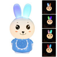 Bunny Shape Storytelling Player Flashing Rechargeable Downloadable 8GB RAM English Version Story Player Appease Kids Baby