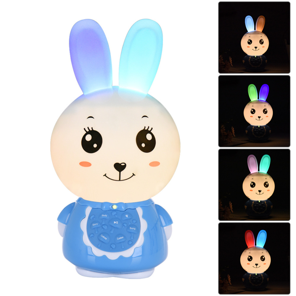 Bunny Shape Storytelling Player Flashing Rechargeable Downloadable 8GB RAM English Version Story Player Appease Kids Baby Sleep