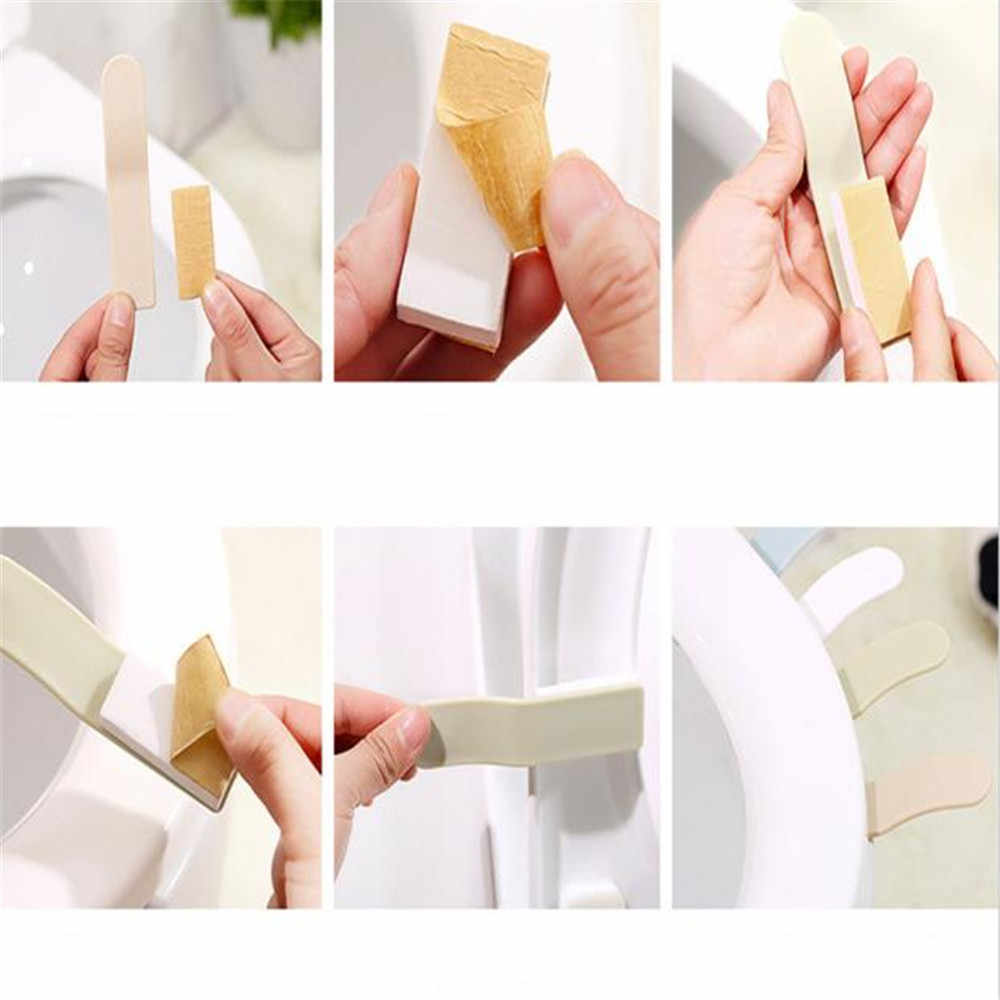 Hot sale 1PCS Bath Seat Toilet Seat Cover Lifter Handle Avoid Touching Hygienic Clean Lifting sticker Tool bathroom supply