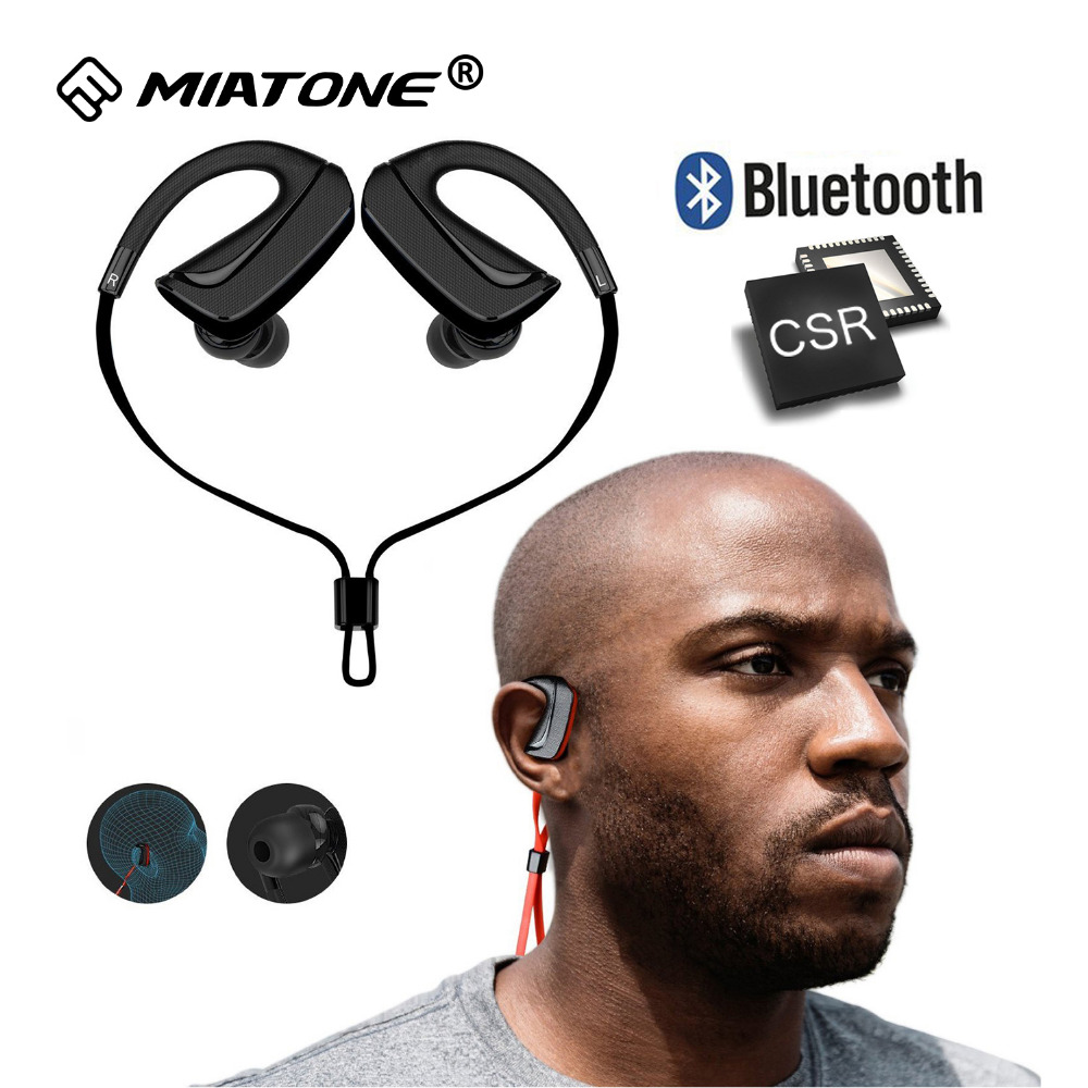 Sweatproof Sports Bluetooth Headphones Wireless Bluetooth Earphone Headset with Noise Cancelling Mic for Iphone Huawei Xiaomi wireless bluetooth headset mini business headphones noise cancelling earphone hands free with microphone for iphone 7 6s samsung
