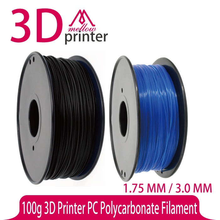 100g 3D Printer PC Filament 1.75 / 3.0 for Makerbot,Reprap,UP,Afinia,Flash Forge and all FDM 3D Printers,Blue Semi-transparent