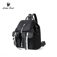 Latue Seed Backpack Women 2018 New Wild Trend Bag Oxford Cloth Bag Casual Nylon Canvas Cattle Anti theft Backpack