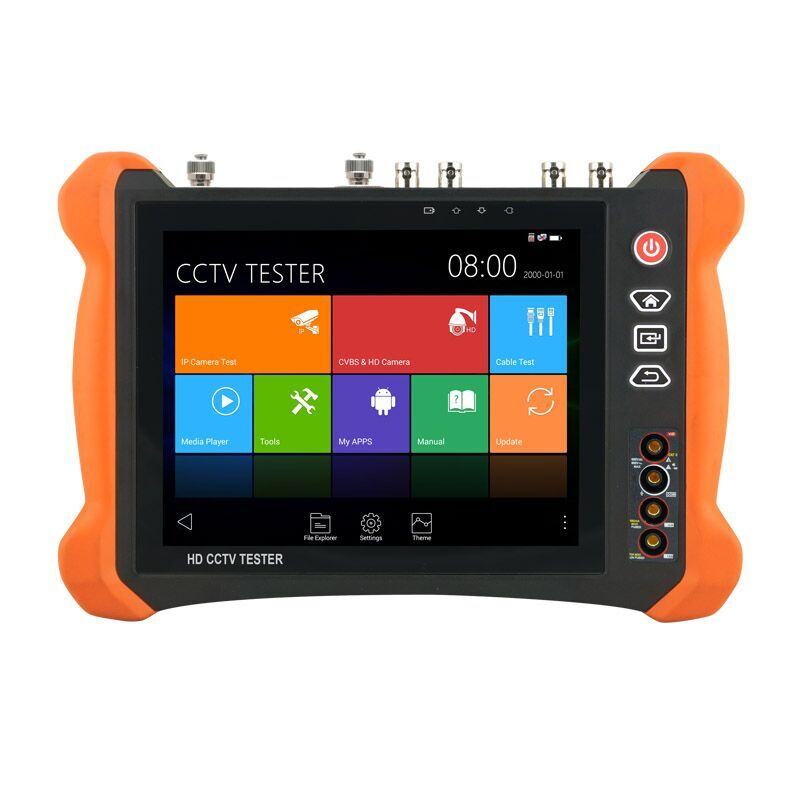 New CCTV Tester 8MP TVI CVI 5MP AHD IP Tester Support DHMI 4K Input/Output Digital Multi-meter,Visual fault locator Tester