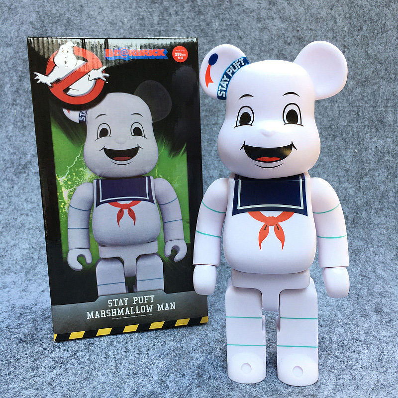 New Arrival 400% Bearbrick Cosplay Stay Puft Marshmallow Man PVC Action Figure Fashion Toys In Retail Box high quality oversize 52cm bearbrick be rbrick matt diy pvc action figure toys bearbrick blocks vinyl doll 3 color optional
