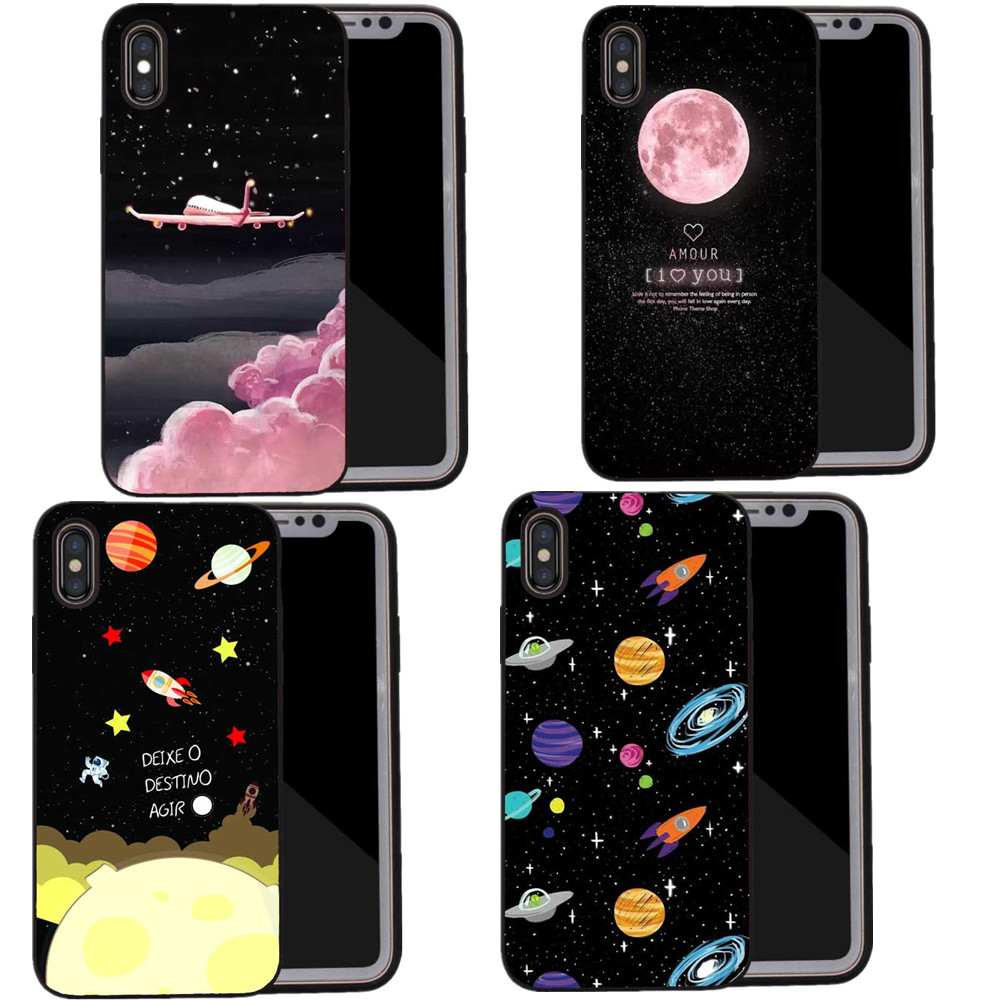 Hot Sale Space Moons Cartoon Cute Candy Airplane Frosted Hard Cover Phone Cases For Iphone 5s 6 6s Plus 7 7plus 8 8plus X Phone Bumper