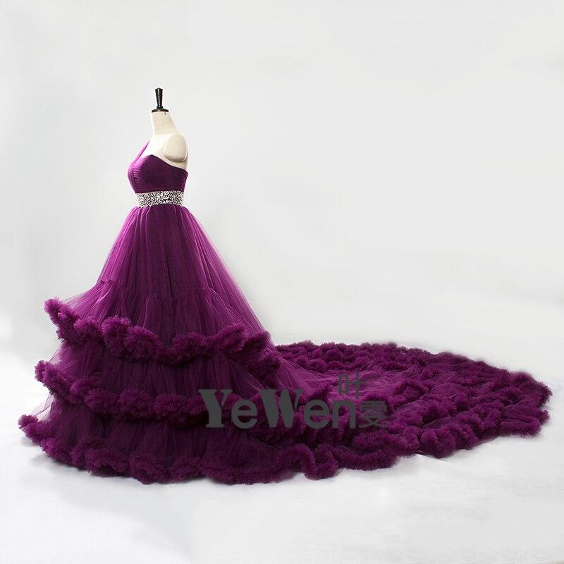 2018 beach bohemian Royal blue Black Cloud Luxury Wedding Dresses ...