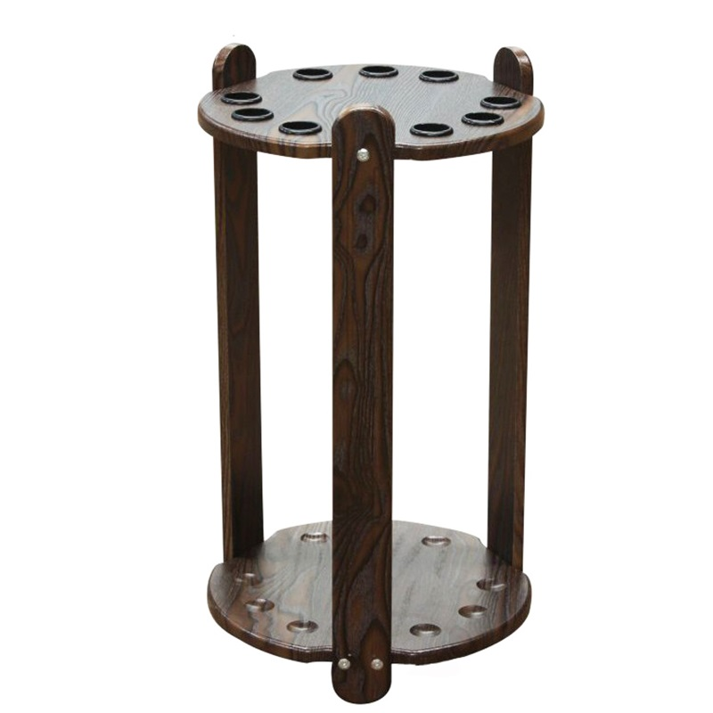 Floor-style round 9-hole billiards Pool Cue Rack Billiard Cues Support new 6 holes pu leather billiards pool cues case billiard accessories china 85cm length