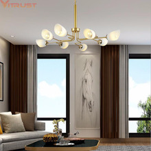 Nordic Chandeliers Lighting Living room Bedroom Luxury Hotel Chandelier Hanging lustre  Restaurant Modern Lights Fixtures Lamp