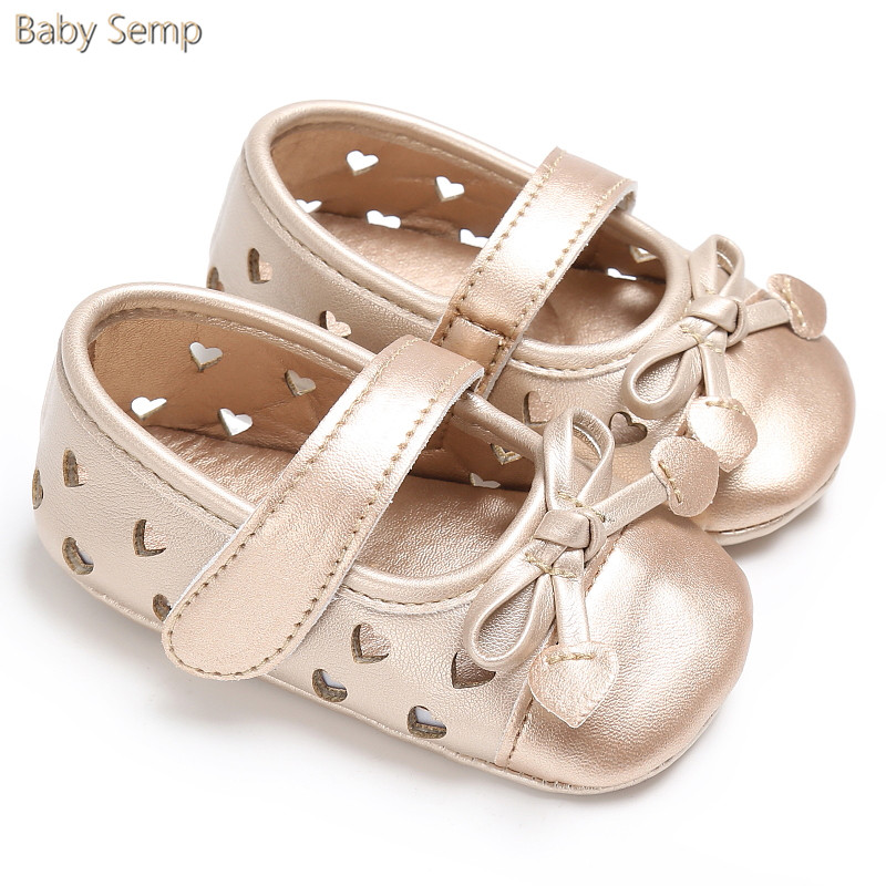 Baby Girl Gold Sandals 2017 New Arrival Summer Romirus Baby Sandals PU Leather Bow Infant Girl