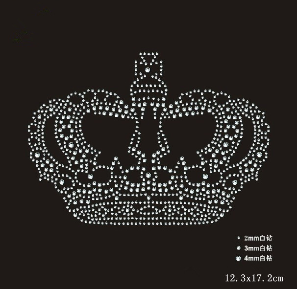 774c09fffd 2pc/lot Crown Rhinestones iron on crystal transfers design rhinestone iron  on transfers designs patches-in Rhinestones from Home & Garden on ...