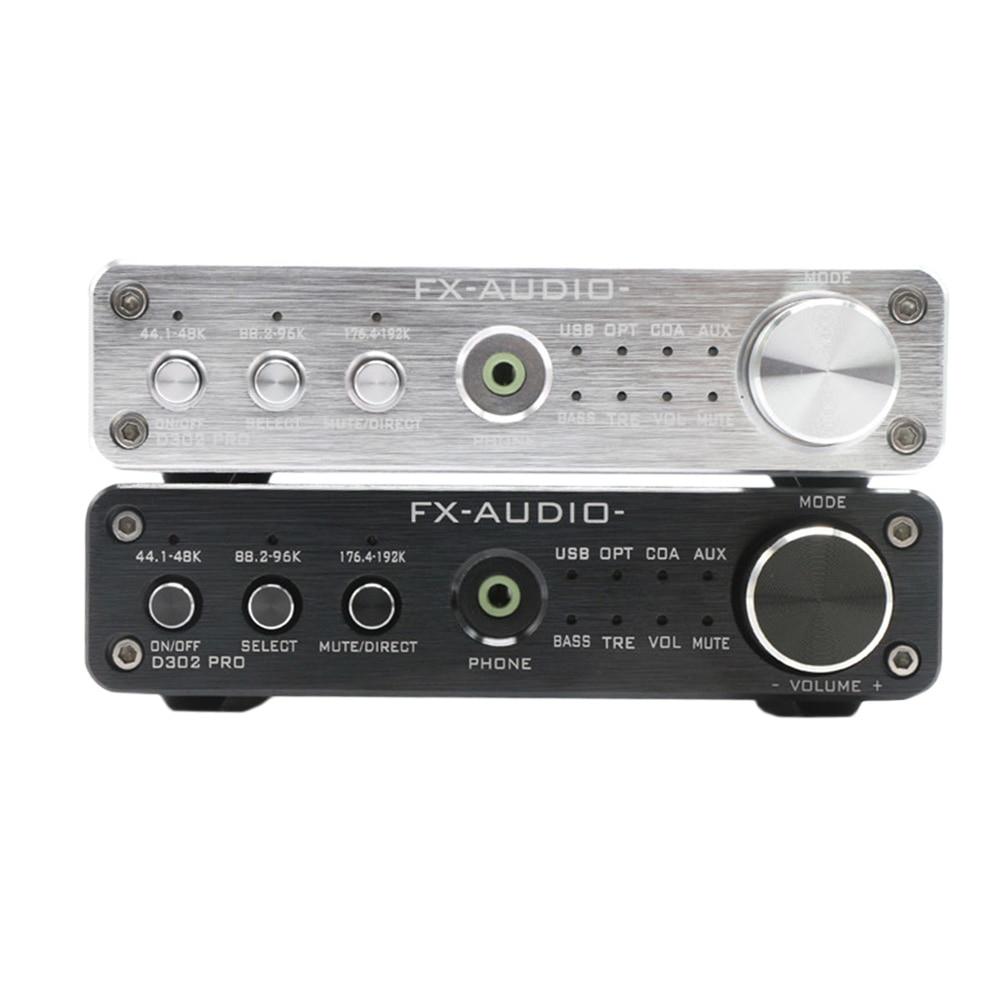 Amplificateur de casque Portable FX Audio D302PRO Hifi numérique puissance amplificateur stéréo carte 20Wx2 USB Coaxial optique AUX Mini ampli