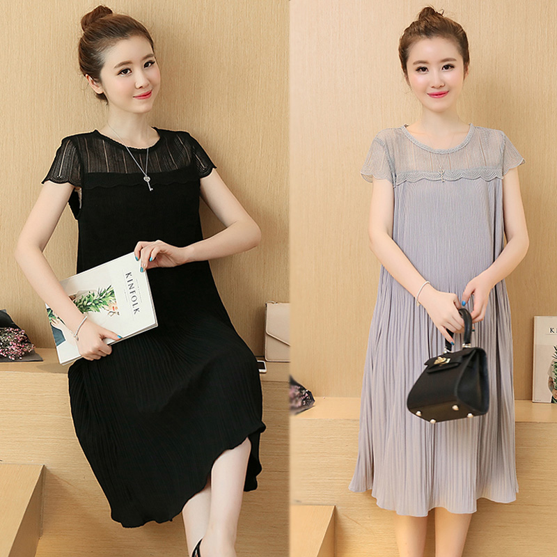 b1fe72290adf0 Elegant Korean Maternity Maxi Dress Clothes Tunic For Pregnant Women Summer Maternity  Dress Chiffon Pregnant Clothing 602085-in Dresses from Mother & Kids ...