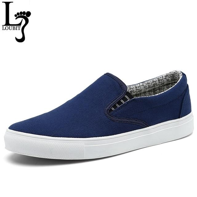 Kích thước 36-45 Men Canvas Shoes Durable của Nam Giới Thường Trượt On Canvas Căn Hộ Low Top Giày Người Đàn Ông Thuyền Zapatos Hombre