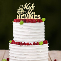 Personalized Custom Wedding Anniversary Cake Topper Rustic Wooden Cake Topper Bridal Shower Party Table Cake Decoration