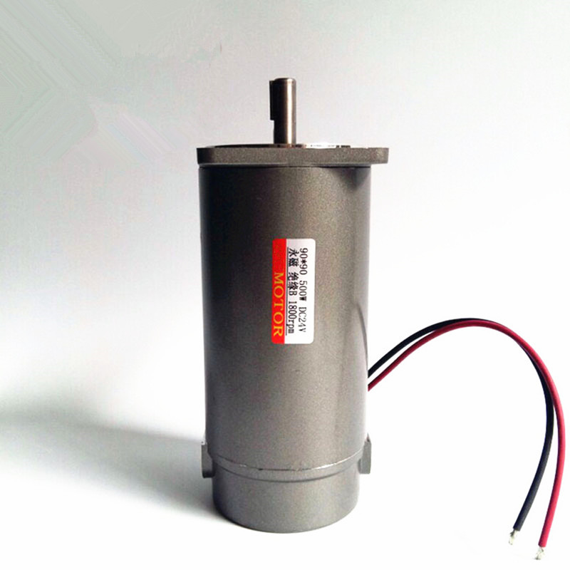 500W miniature permanent magnet DC motor,12V 24V 220V 1800rpm Round shaft type optical axis motor,J18184-in DC Motor from Home Improvement    2