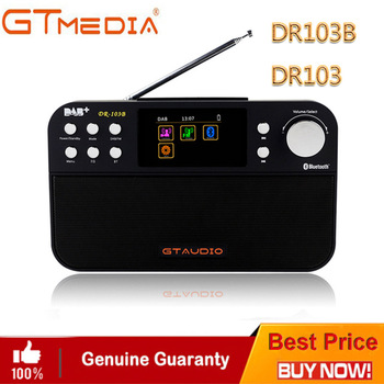 Professional Black GTMedia DR103B Digital FM Radio DAB+Radio Stero For UK EU With Bluetooth Built-in Loudspeaker Color screen