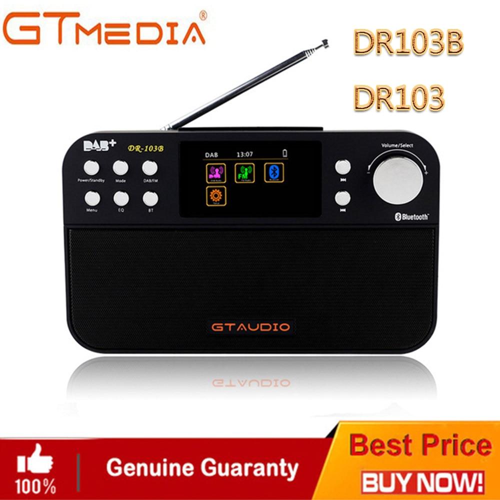 Professionnel Noir GTMedia DR103B Numérique FM Radio DAB + Radio Stero Pour ROYAUME-UNI de L'UE Avec Bluetooth Haut-Parleur Intégré écran Couleur