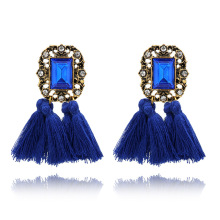 2018 Ethnic Vintage Accessories Long Drop Tassel Earrings For Women Rhinestone fringed earrings brincos Maxi Fashion Jewelry
