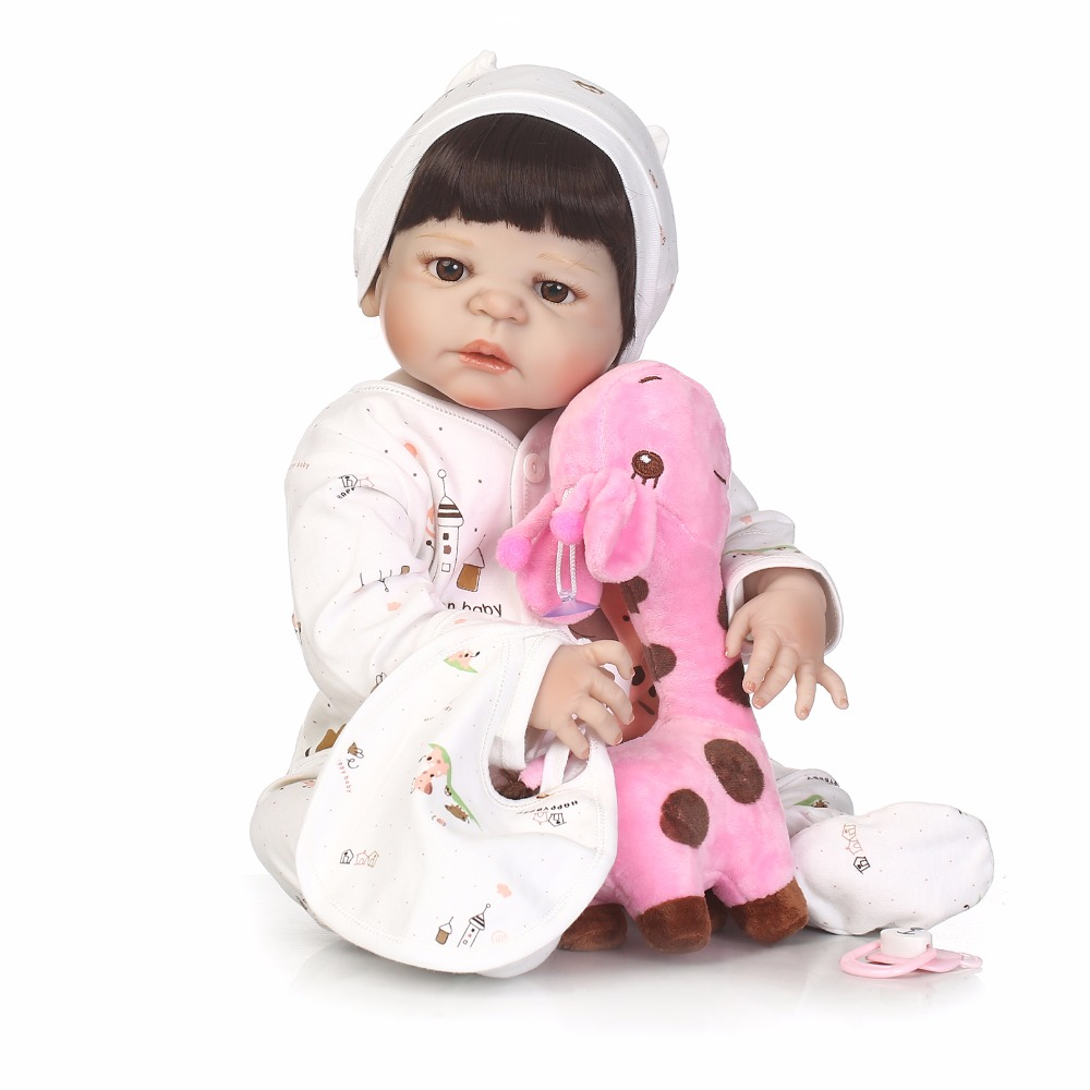 Image 4 - NPK 56cm full body Silicone reborn Baby Doll Girl Newbron Lifelike Bebes Reborn toys playmates for kids with sleeping bag-in Dolls from Toys & Hobbies
