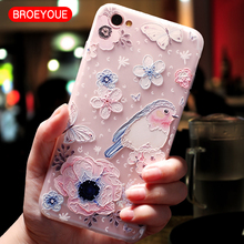 BROEYOUE Case For Xiaomi Redmi 4X 4A Note 5A 5 Pro Plus Relief Flower TPU Silicone Matte Cases 4