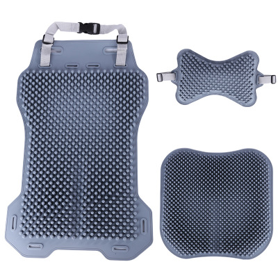 Baby Grade Silicone Car Massage Cushion Set Universal Automobiles Headrest Backrest Relieve Fatigue Cushion For long Driving in Automobiles Seat Covers from Automobiles Motorcycles