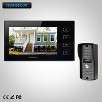 HOMSECUR 7 Video Door Entry Security Intercom+Black Monitor for Home Security : TC031 Camera + TM704 B Monitor (Black)