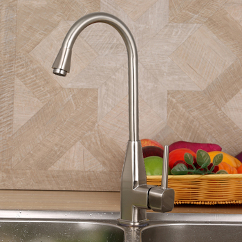 Fashion Special Offer Lead-free Zinc Alloy Brushed Rotatable Hot and Cold Kitchen Faucet Mixer Tap