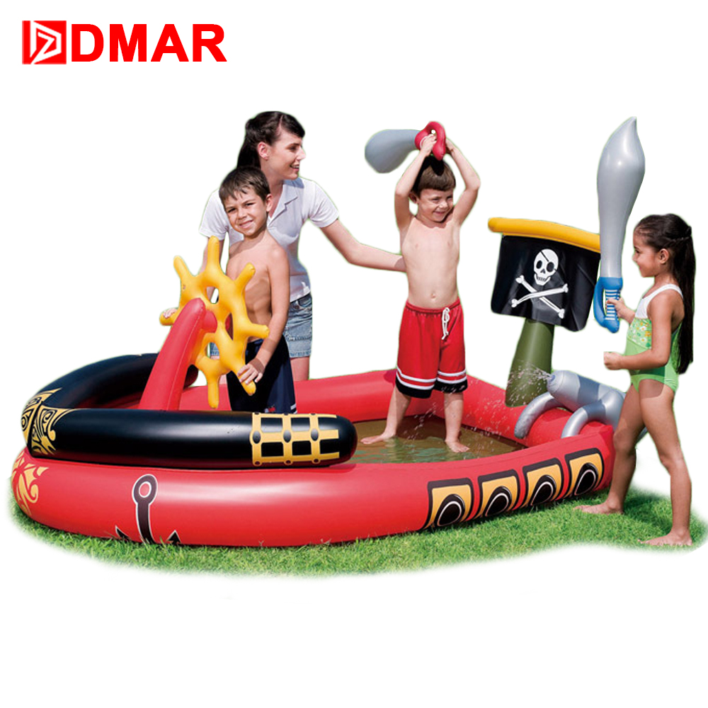 DMAR Inflatable Pool for Kids Pirates of the Caribbean Black Pearl Baby Swimming Pool Bathing Pool Children Water Toys Sparrow bestway round baby pool baby wading pool thick folder mesh stent pool children bathing pool 152 38cm