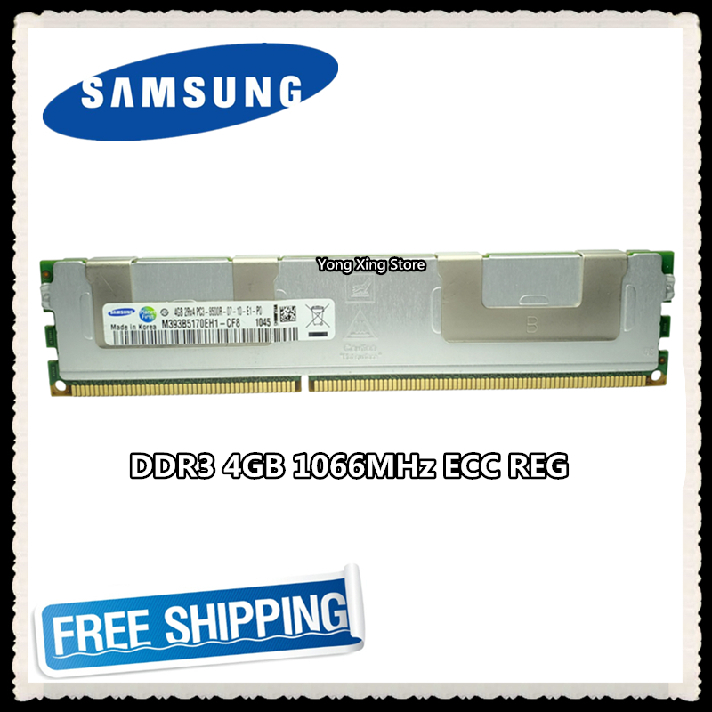 <font><b>Samsung</b></font> Server memory <font><b>DDR3</b></font> 4GB 8GB 1066MHz <font><b>ECC</b></font> <font><b>REG</b></font> Register DIMM PC3-8500R RAM 240pin 8500 4G image