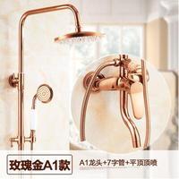 Розовое золото душ с указан Европейский горячей и холодной воды кран Полный Медный тела сопла душ с XT315