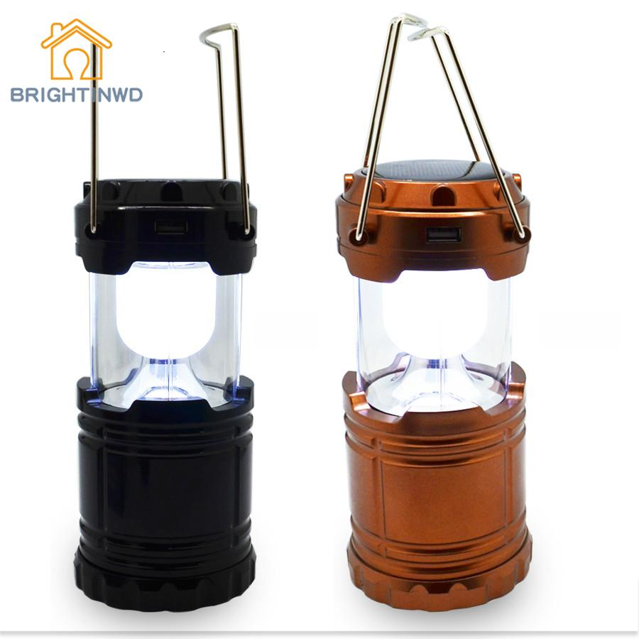 Led Solar Light Rechargeable Solar Lamp Camping Light Lantern Ac110-250v Tent Lights For Outdoor Lighting Hiking Emergency