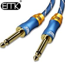 купить EMK 6.5 Jack Audio Cable Mono 6.3 Aux Cable Nylon Braided 6.35 Jack Male to Male Cable 1m 5m 10m for Mixer Amplifier дешево