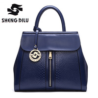 ShengDiLu Brand Genuine Leather Luxury High Quality 100 Real Cow Leather Elegant Multi Functional Big Shoulder