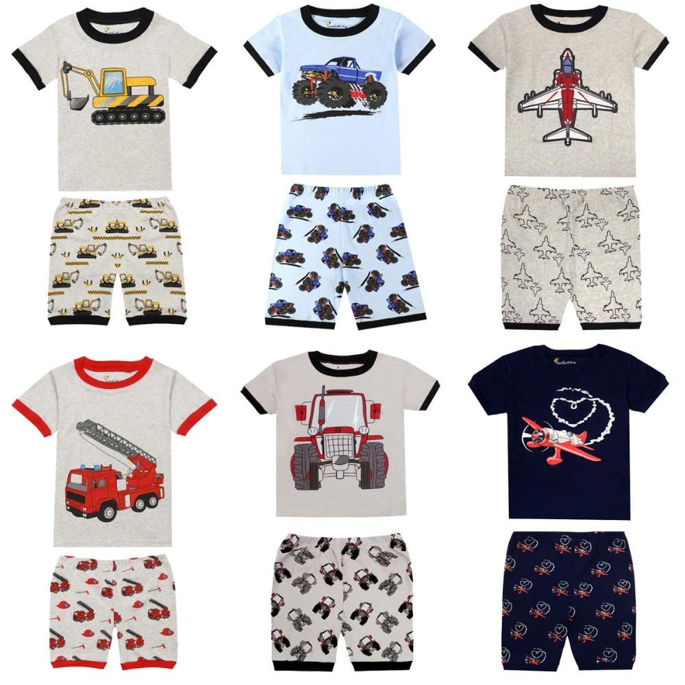 Gray Bat Boys Shorts 2 Piece Pajama Set 100/% Cotton G6057,Size 6Mos-14Yrs