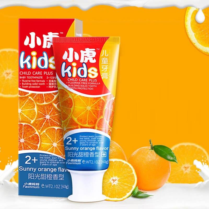 Orange Toothpaste Children's Fluorine Free Toothpaste Anti-caries Organic Toothpaste Teeth Whitening Cleaning Hygiene Dental