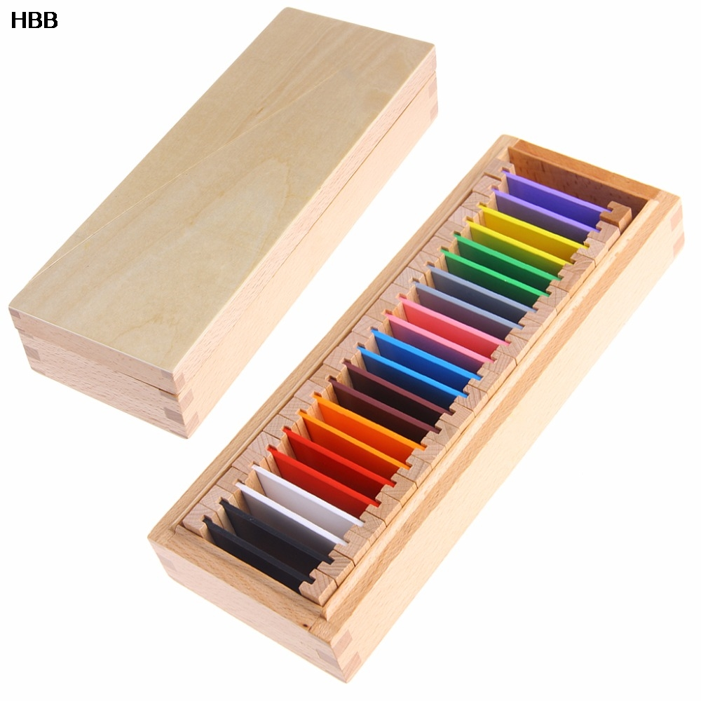 Wood Preschool Toy Montessori Sensory Material Learning Color Tablet # T026 #