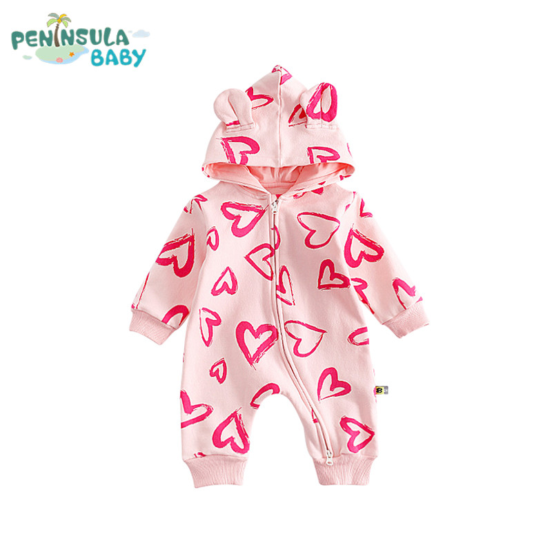 Autumn Baby Girl Boy Clothes Cotton Hooded Long Sleeve Sweet Baby Rompers Casual Fashion Newborn Products Warm Infant Jumpsuit 2016 autumn newborn baby rompers fashion cotton infant jumpsuit long sleeve girl boys rompers costumes baby clothes