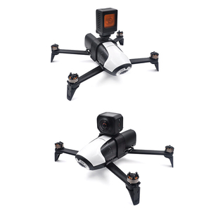 Image 1 - Parrot bebop 2 Drone Extended Bracket สำหรับ Gopro Hero 3/4/5/6/7 Action 360 องศา VR กล้อง Mount ผู้ถือ parrot Acce