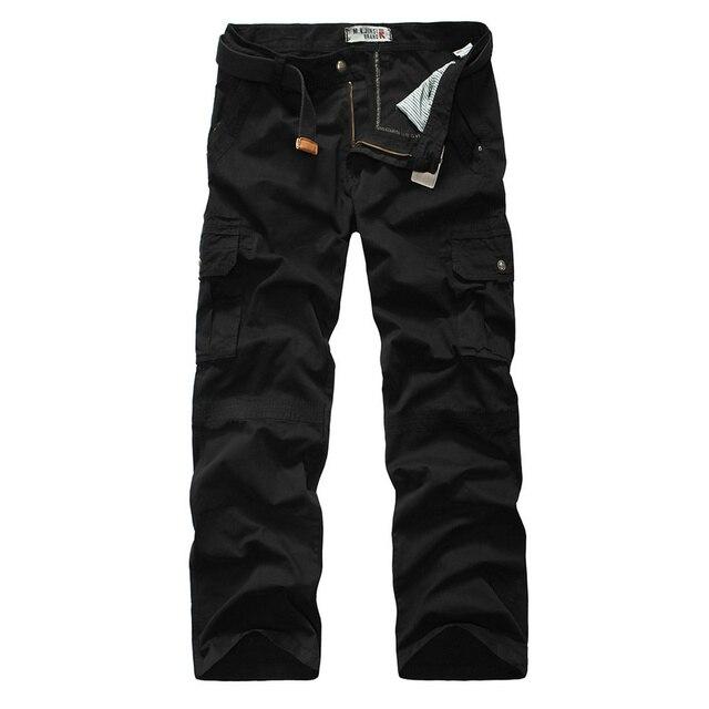 2016 новый мужчины брюки-карго большие карманы украшения армии повседневные брюки легко мыть брюки мужские 29-38 CYG86