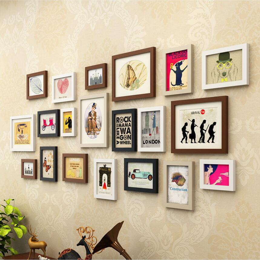 European Style 20pcs/Set Photo Frame Set Wall Decoration Multi Sizes  Picture Frame Wooden Frame For Home Decor Porta Retrato In Frame From Home  U0026 Garden On ...
