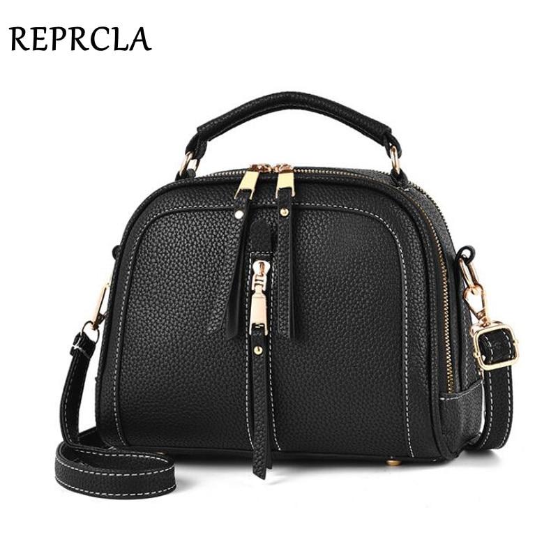 цена на REPRCLA Luxury Handbags Designer Women Bag PU Leather Shoulder Bag Crossbody High Quality Women Messenger Bags Sac A Main