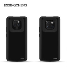 JINXINGCHENG Fashion Silicone Frame Battery Case for Huawei Mate 20 Pro 6500mAH Back Clip Fast Charger Cover