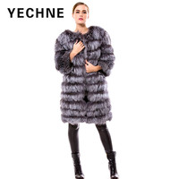 One Wearing Four Clothes Genuine Fox Fur Jacket Clothes Sleeve Removable Long Vest Female 2017 Warm
